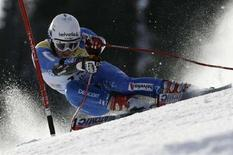 <p>Lo svizzero Marc Berthod, Adelboden, 5 gennaio 2008. REUTERS/Stefan Wermuth</p>