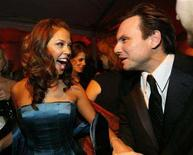 <p>Actor Christian Slater (R) and actress Vanessa Minnillo attend the Weinstein Company's 2007 Golden Globe after party in Beverly Hills, California January 15, 2007. The thing the Golden Globes might be best known for -- the parties -- are in jeopardy. With less than a week before the January 13 awards show, no invitations had been sent for any of the bashes. REUTERS/Mario Anzuoni</p>