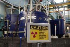 <p>A sign is seen outside the reactor at the Atomic Energy Canada Limited (AECL) Chalk River nuclear facility during a media tour in Chalk River, Ontario, December 19, 2007. The Canadian government is considering whether to fire the country's top nuclear watchdog after she insisted on the closure of the facility, a crucial reactor that makes radioisotopes for cancer tests, an official said on Tuesday. REUETRS/Chris Wattie</p>