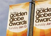 <p>Banners promoting the 65th Annual Golden Globe Awards on the NBC television network are seen attached to street light poles in Los Angeles, January 8, 2008. REUTERS/Fred Prouser</p>
