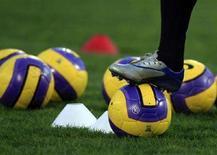 <p>Nella fotografia il calciatore juventino Alessandro Del Pierodurante un allenamento. REUTERS/Darrin Zammit Lupi</p>