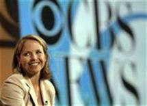 """<p>CBS anchor Katie Couric pictured at the """"Television Critics Association"""" tour in Pasadena, California, July 16, 2006. The Writers Guild of America has reached a new contract with CBS News covering 500 newswriters, editors and other union members, averting a possible strike and ending a two-and-a-half year dispute. REUTERS/Mario Anzuoni</p>"""