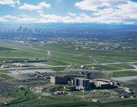 <p>An aerial view of the Calgary airport is seen in an undated file photo. As many as 40 passengers were injured on an Air Canada Victoria, British Columbia, to Toronto flight that made an emergency landing at Calgary on Thursday morning. REUTERS/Calgary Airport Authority/Handout</p>
