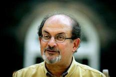 <p>British author Salman Rushdie talks to Reuters during an interview at his office in central London, August 31, 2005. A new novel by Rushdie will be published in June in, publisher Random House said on Thursday. REUTERS/Dylan Martinez</p>