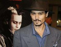 "<p>Actor Johnny Depp is seen in Hollywood in this December 5, 2007 file photograph. Depp won the Golden Globe Award as best actor in a comedy or musical film for his role ""Sweeney Todd: The Demon Barber of Fleet Street"" at the 65th annual Golden Globe Awards news conference at the Beverly Hilton hotel in Beverly Hills, California January 13, 2008. REUTERS/Fred Prouser/Files</p>"