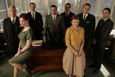 "<p>The cast of ""Mad Men"" in an undated photo. The Hollywood Foreign Press Association gave its top Golden Globes for television on Sunday to the new advertising-themed drama ""Mad Men"" on cable network AMC and HBO's recently canceled Hollywood satire ""Extras."" REUTERS/AMC/Handout</p>"