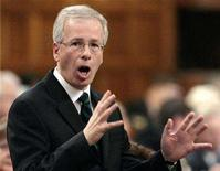 <p>Liberal leader Stephane Dion speaks in the House of Commons on Parliament Hill in Ottawa November 13, 2007. REUTERS/Christopher Pike</p>