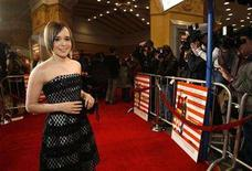"<p>Ellen Page poses at the premiere of ""Juno"" at the Village theatre in Westwood, California December 3, 2007. Page was nominated by the Producers Guild of America for best actress in a movie. REUTERS/Mario Anzuoni</p>"