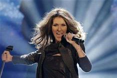 "<p>Canadian singer Celine Dion performs her song ""Taking Chances"" during Thomas Gottschalk's TV show ""Wetten, dass..?"" (Bet it..?) in the eastern German city of Leipzig November 10, 2007. Picture taken November 10, 2007. Dion will play her first concert in China in April and has submitted an entry for the Beijing Olympics theme song competition, Games organizers said on Wednesday. REUTERS/Eckehard Schulz/Pool</p>"