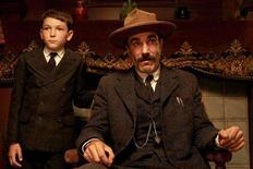 "<p>Dillon Freasier (L) and Daniel Day-Lewis appear in a scene from the film ""There Will Be Blood"" in this undated publicity released to Reuters January 22, 2008. The film was nominated for best picture for the 80th annual Academy Awards, announced in Beverly Hills January 22, 2008. The Oscars will be presented February 24, 2008 in Hollywood, California. REUTERS/Paramount Vantage/Handout</p>"