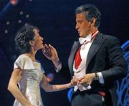 "<p>Sandra Pires as Maria Rainer (L) and Michael Kraus as Georg von Trapp perform in Vienna's Volksoper theatre during a rehearsal on February 25, 2005. Thousands of actresses throughout Canada will be vying for a chance at stardom when auditions begin on Friday to select who will play Maria von Trapp in a new production of ""The Sound of Music."" REUTERS/Michael Steiner HBP/AA</p>"