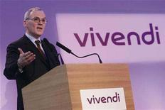 <p>Jean-Bernard Levy, chairman of the management board and chief executive of Vivendi, speaks during a news conference to present the company's 2006 full year results in Paris March 7, 2007. Levy has no plans to spin off the music unit Universal and he said on Saturday he believed the gloom surrounding the industry had been over done. REUTERS/Benoit Tessier</p>