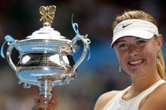 <p>O primeiro título de Maria Sharapova no Aberto da Austrália foi um prêmio por todo o trabalho duro que ela teve que fazer para melhorar seu jogo depois da temporada de 2007, em que sofreu com contusões, afirmou a russa neste sábado. Photo by Tim Wimborne</p>