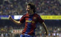 <p>O jogador do Barcelona Bojan Krkic comemora gol contra o Athletic Bilbao, em 27 de janeiro. O jovem promissor do Barcelona Bojan Krkic deve ser convocado para defender a seleção espanhola no amistoso da semana que vem contra a França, para impedir que receba uma aproximação da Sérvia. Photo by Felix Ordonez</p>