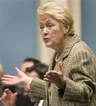 <p>Parti Quebecois leader Pauline Marois gestures as she speaks during the questions period at the National Assembly in Quebec City October 30, 2007. REUTERS/Jacques Boissinot/Pool</p>