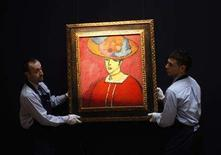 "<p>A painting by Alexej von Jawlensky entitled ""Schokko (Schokko mit Tellerhut)"" is seen at Sotheby's auctioneers, ahead of their February Impressionist and Modern Art sale in London, January 29, 2008. REUTERS/Stephen Hird</p>"