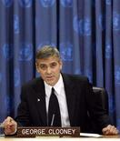 <p>George Clooney attends a news conference to discuss his recent trip to conflict zones in Africa after being designated a United Nations Messenger of Peace at the United Nations in New York January 31, 2008. REUTERS/Lucas Jackson</p>