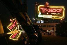 <p>Uma placa do Yahoo, em San Francisco. A Microsoft Corp, maior empresa de softwares do mundo, afirmou nesta sexta-feira que ofereceu 44,6 bilhões de dólares em ações e dinheiro para adquirir o Yahoo Inc. Photo by Robert Galbraith</p>