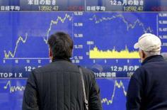 <p>A maior parte das bolsas de valores asiáticas subiu nesta sexta-feira, depois de um dos piores meses já registrados, com uma trégua nas preocupações com as seguradoras de títulos atingidas pela crise de hipotecas de risco (subprime). Photo by Kiyoshi Ota</p>