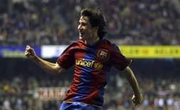 <p>Atacante do Barcelona Bojan Krkic comemora gol em partida do Barcelona pelo Campeonato Espanhol, em 27 de janeiro. Photo by Felix Ordonez</p>