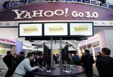 <p>Le titre Yahoo se traite en Bourse avec une décote de 6,5% par rapport au prix de l'offre de rachat faite par Microsoft, ce qui témoigne du scepticisme du marché, mais certains analystes de Wall Street s'attendent à ce que le géant des logiciels améliore son offre. /Photo prise le 7 janvier 2008/REUTERS/Steve Marcus</p>