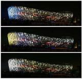 """<p>Tre immagini dello stadio """"Nido d'uccello"""" a Pechino. REUTERS/Claro Cortes IV (CHINA)</p>"""