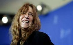 "<p>U.S. musician Patti Smith poses during a photocall to present the film ""Patti Smith: Dream of Life"" running at the 58th Berlinale International Film Festival in Berlin February 9, 2008. REUTERS/Johannes Eisele</p>"