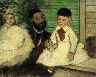 <p>Imagem de divulgação mostra a obra 'O Conde Lepic e Suas Meninas' do artista francês Degas em Zurique. Pinturas a óleo de Cézanne, Degas, Van Gogh e Monet, avaliadas em 164 milhões de dólares, foram roubadas no domingo de um museu de Zurique por ladrões armados e mascarados, em plena luz do dia, afirmou a polícia suíça na segunda-feira. Photo by Reuters (Handout)</p>