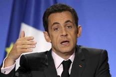 <p>Il presidente francese Nicolas Sarkozy. REUTERS</p>