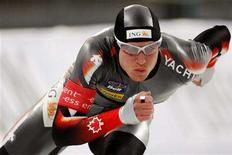 <p>Jeremy Wotherspoon of Canada competes in the men's 500m event during the Speed Skating World Cup in Hamar, in this January 25, 2008 file photo. REUTERS/Hakon Mosvold Larsen/Scanpix/Files</p>