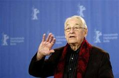 <p>Polish Director Andrzej Wajda poses during the photocall to present his film 'Katyn' at the 58th Berlinale International Film Festival in Berlin, February 15, 2008. The 58th Berlinale, one of the world's most prestigious film festivals, runs from February 7 to 17 in the German capital. REUTERS/Tobias Schwarz</p>