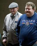 <p>In this file photo accused of war crimes during World War II, Michael Seifert (L) walks with his son John as he arrives at a Vancouver court, November 12, 2002. Seifert, who had lived in Canada since 1951, landed at Rome's Ciampino airport before dawn on Saturday. REUTERS/Andy Clark</p>