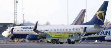 <p>Un aereo Ryanair. REUTERS/Johan Nilsson/Scanpix</p>