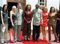 <p>Spice Girls, Mel C (L), Emma, (2L) Mel B (C) Gerri, (2R) and Victoria (R) pose with President Nelson Mandela and Prince Charles in Pretoria, (3L) November 1, 1997. REUTERS/Peter Andrews</p>