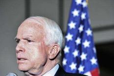 <p>John McCain, pré-candidato do Partido Republicano à Presidência dos EUA, classificou de 'inverídica' uma matéria do jornal The New York Times sugerindo que o atual senador manteve um relacionamento quase amoroso com uma lobista nove anos atrás, o que mancharia a imagem de político ético exibida por ele.. Photo by Reuters (Handout)</p>