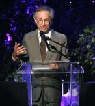 <p>In this file photo film director Steven Spielberg speaks on stage at the Women in Film 2007 Crystal and Lucy Awards in Beverly Hills, California June 14, 2007. A trio of directors defended their participation in a film project about preparations for the Beijing Olympics on Saturday, 11 days after Spielberg quit as an adviser to the Games because of China's Darfur policy. REUTERS/Mario Anzuoni</p>
