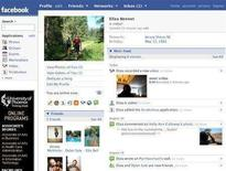 <p>A Facebook profile in an undated screenshot courtesy of the company. Canadian military chiefs have told soldiers not to post personal information on social networking sites such as Facebook because it could prompt attacks by groups such as Al Qaeda, the Canadian Broadcasting Corp. said on Tuesday. REUTERS/Handout</p>