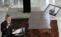 <p>Condição de credor é 'segundo grito da independência', diz Lula. O presidente Luiz Inácio Lula da Silva afirmou nesta terça-feira que o Brasil deu 'seu segundo grito da independência' ao se tornar credor internacional. 25 de fevereiro. Photo by Jamil Bittar</p>