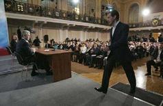 <p>Кандидат в президенты и первый вице-премьер РФ Дмитрий Медведев в Нижнем Новгороде 27 февраля 2007 года. REUTERS/RIA Novosti/Dmitry Astakhov (RUSSIA)</p>