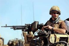 <p>Il principe Harry ritratto durante una missione nella provincia di Helmand. REUTERS/John Stillwell/Pool (AFGHANISTAN)</p>