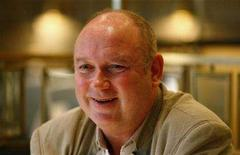 """<p>British author Louis de Bernieres speaks during an interview with Reuters in central London March 3, 2008. De Bernieres has always considered himself a foreign writer, so his latest novel """"A Partisan's Daughter"""", the first he has set in native Britain, is something of a homecoming. REUTERS/Alessia Pierdomenico</p>"""