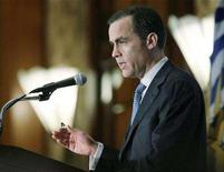 <p>The Governor of the Bank of Canada, Mark Carney, speaks to the British Columbia Chamber of Commerce and the Business Council for British Columbia in Vancouver British Columbia, February 18, 2008. REUTERS/Lyle Stafford</p>