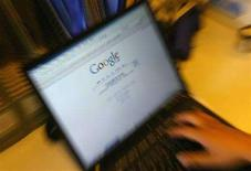 <p>La homepage di Google sullo schermo di un laptop. REUTERS/Jason Lee</p>