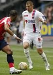 <p>O atacante francês Karim Benzema renovou seu contrato com o Olympique de Lyon, informou nesta sexta-feira o clube hexacampeão francês. Photo by Benoit Tessier</p>