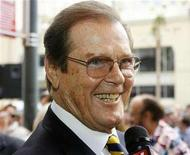 <p>Roger Moore is interviewed after ceremonies unveiling his star on the Hollywood Walk of Fame in Hollywood, California October 11, 2007. REUTERS/Fred Prouser</p>