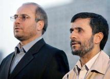 <p>O presidente do Irã, Mahmoud Ahmadinejad e o prefeito de Teerã, Mohammad-Baqer Qalibaf. Photo by Raheb Homavandi</p>