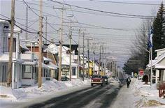 <p>A general view of the Quebec town of Herouxville, February 11, 2007. REUTERS/Shaun Best</p>