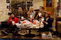 "<p>The cast of ""The Big Bang Theory"" in a photo courtesy of CBS. After months of broadcast networks airing mostly repeats and reality shows, the dramas and comedies shut down by the writers strike finally are trickling back to the air. REUTERS/Handout</p>"
