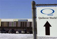 <p>Quebecor World plant in LaSalle, Quebec is pictured here January 21, 2008. REUTERS/Christinne Muschi</p>