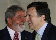 <p>Lula vê boa vontade da UE, EUA e G20 para acordo de Doha. Brasil e União Européia estão otimistas de que um acordo na Rodada de Doha de livre comércio será alcançado logo, disse o presidente Luiz Inácio Lula da Silva na quarta-feira. 19 de março. Photo by Jamil Bittar</p>